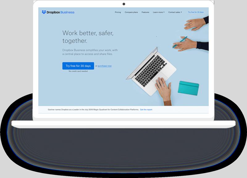 Dropbox Advertising Example - Bright Horizons Media